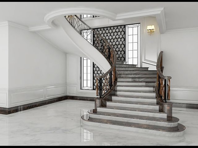 Sketchup Stairs Interior Build + Vray Render