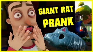 GIANT RAT PRANK ON MY NEIGHBOR - Hello Neighbor Mod