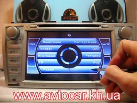 Видеообзор головного устройства Phantom DVM-1720G HD Toyota Camry