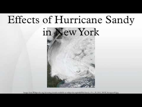 Effects of Hurricane Sandy in New York