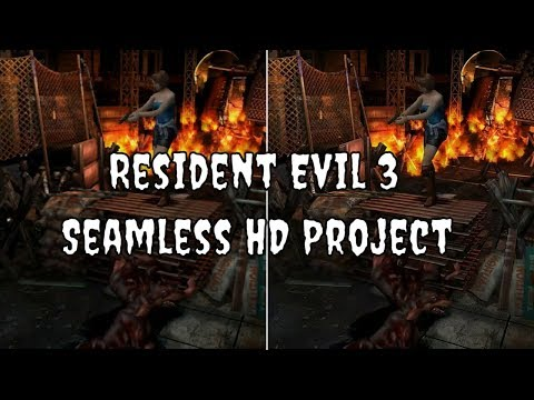 Resident Evil 3 Seamless HD Project - Side By Side Comparison (Gamecube/Dolphin)