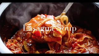Easy Slow Cooker Lasagna Soup