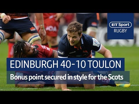 Edinburgh vs Toulon (40-14) Heineken Champions Cup Highlights