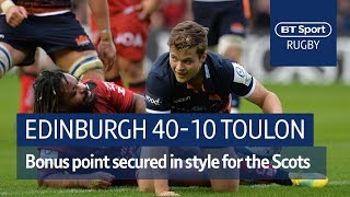 Edinburgh vs Toulon (40-14) Heineken Champions Cup Highlights