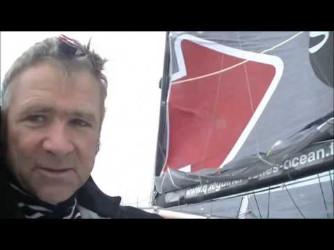 """World on Water Vendee Globe Dec 30 16 Day 54 Elies and Le Cam together at the """"Horn"""""""