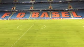 Basel Stadium Ahead Of Manchester United Clash - Newly Replaced Pitch