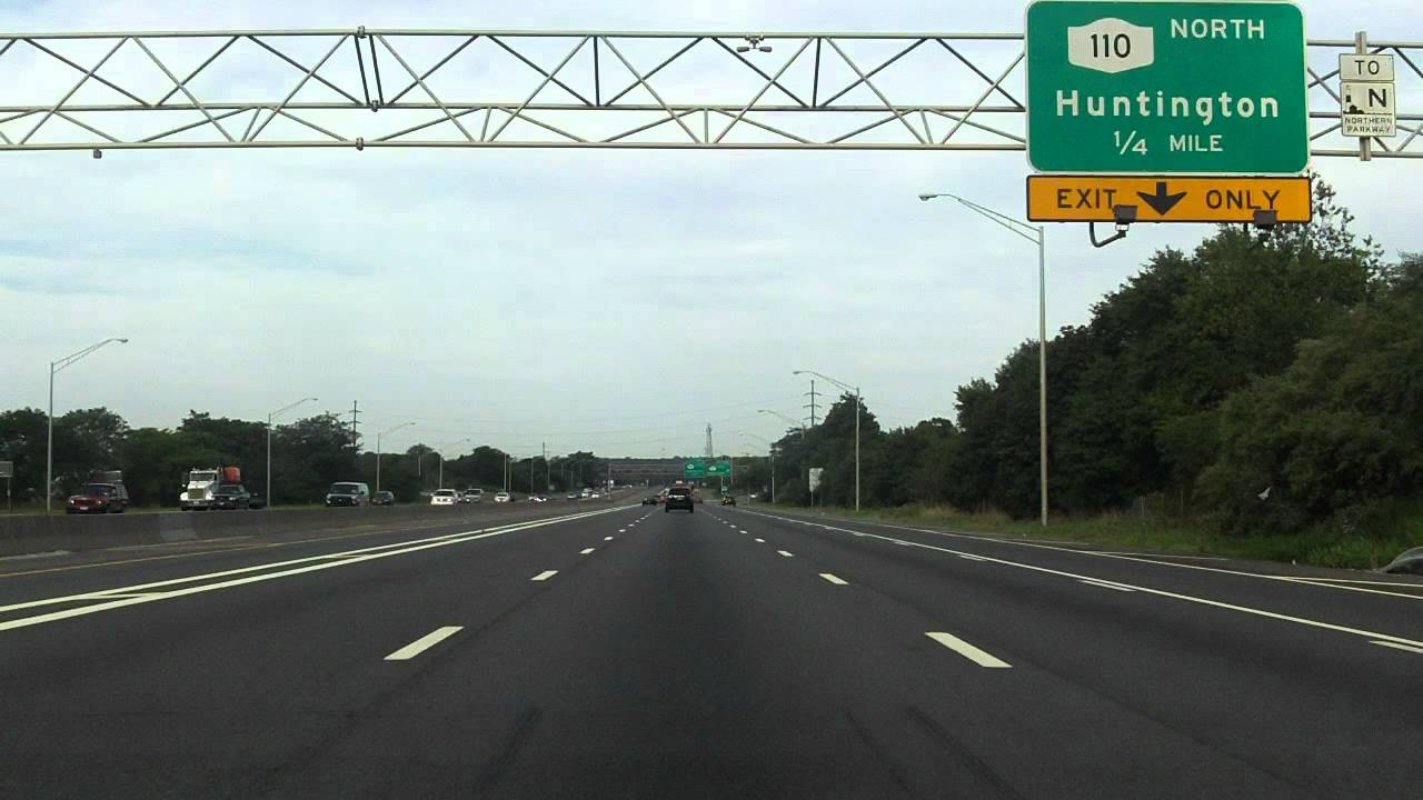 Long Island Expressway Exits Map Long Island Expressway (Interstate 495 Exits 51 to 45) westbound