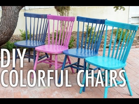 DIY Colorful Chairs with Mr. Kate