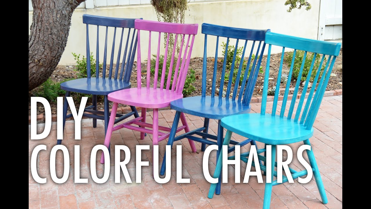 Genial DIY Colorful Chairs With Mr. Kate