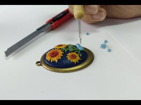 Make Realistic Floral Necklaces using Polymer Clay - Udemy Course Intro - تعليم صلصال حراري أونلاين