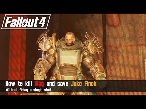 Fallout 4 - How to easily Defeat Slag and Save Jake Finch