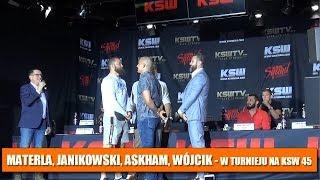 KSW 45: Materla, Janikowski, Askham, Wójcik - w turnieju w wadze średniej