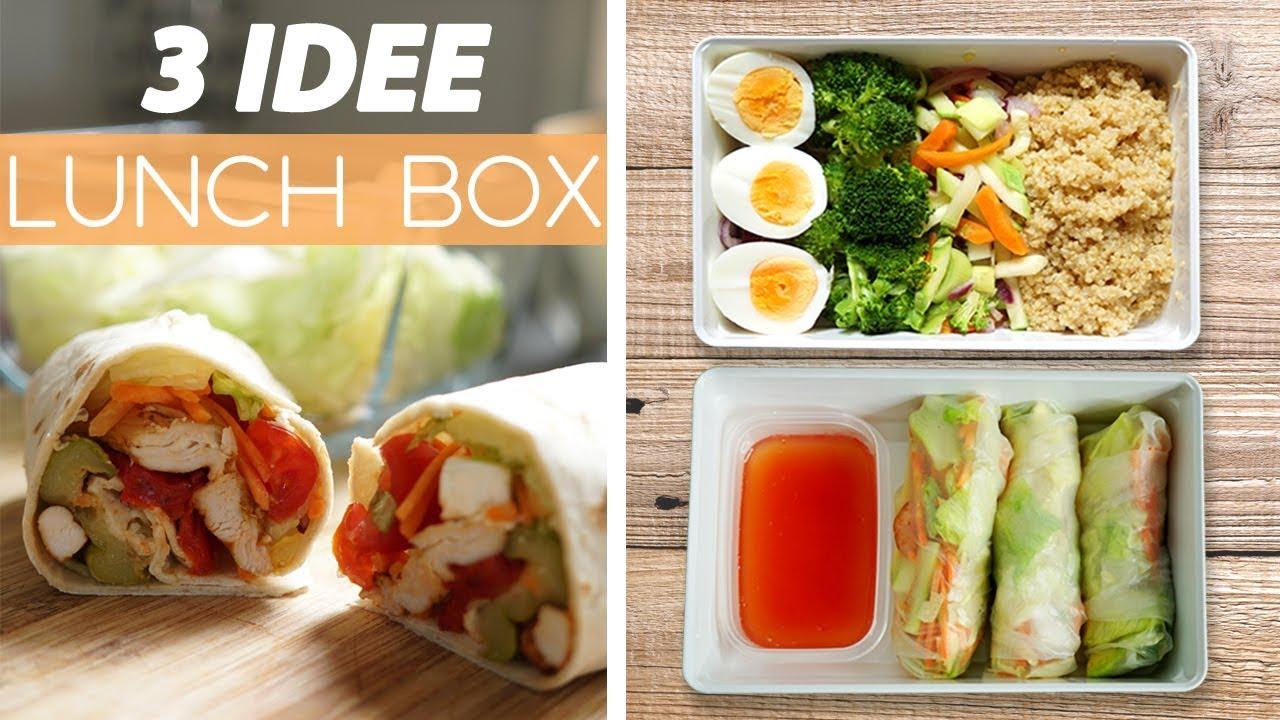 Idee Per Pranzi Sani : 3 idee per pranzo facili e veloci 3 ricette lunch box per lavoro e