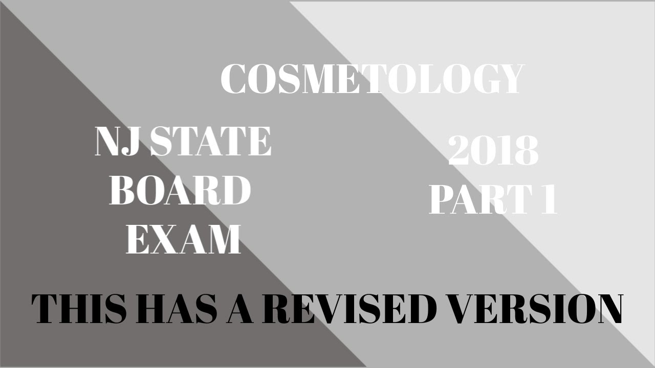 NJ State Board Cosmetology Practical Exam Part 1 I ByJenniferlynn