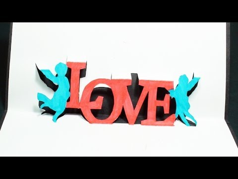 how to make a pop up card love heart