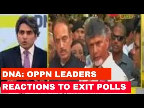 Detailed analysis of opposition leaders reactions to exit polls predictions