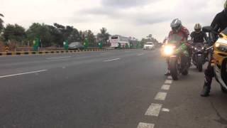 Super bikes in India, Mumbai. The Kawasaki Ninja H2