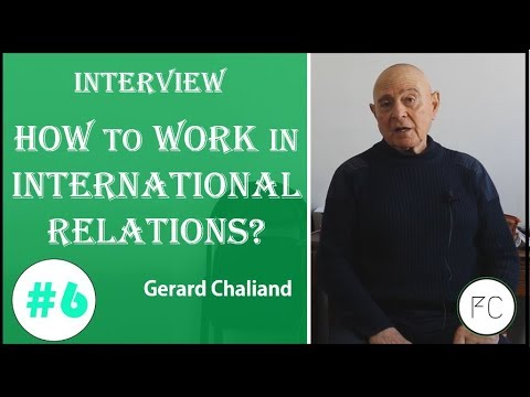 How to work in International Relations? Interview Gérard Chaliand #06