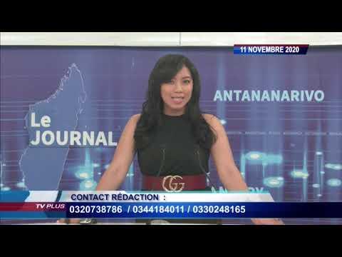 JOURNAL DU 11 NOVEMBRE 2020 BY TV PLUS MADAGASCAR