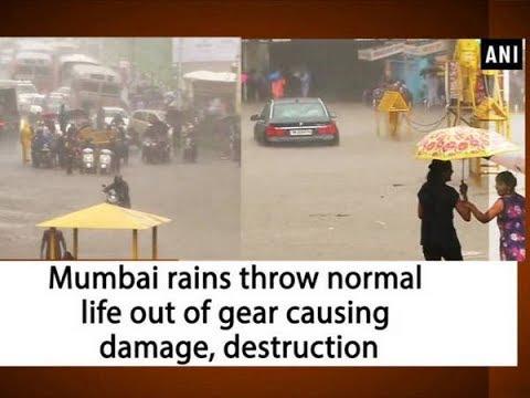 Mumbai rains throw normal life out of gear causing damage, destruction - Maharashtra News