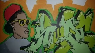 Drawing graffiti wildstyle letters & character - Swag Style