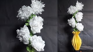 How to make Flowers out of Tissue Paper - Tissue Paper Crafts - how to make tissue paper flowers