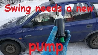 Fuel Pump Replacement on Opel Corsa B