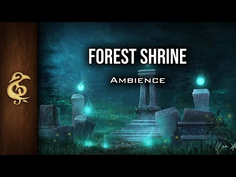 🎧 RPG / D&D Ambience - Forest Shrine | Magic, Enchanted, Nature, Faeries, Relaxing