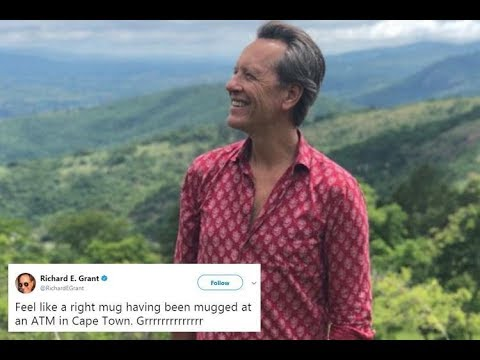 Actor Richard E Grant reveals he was robbed while withdrawing cash at an ATM in South Africa