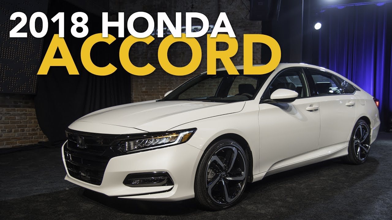 Honda Accord 2018 White >> 2018 Honda Accord First Look - YouTube