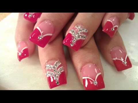HOW TO LADY IN RED ACRYLIC NAILS