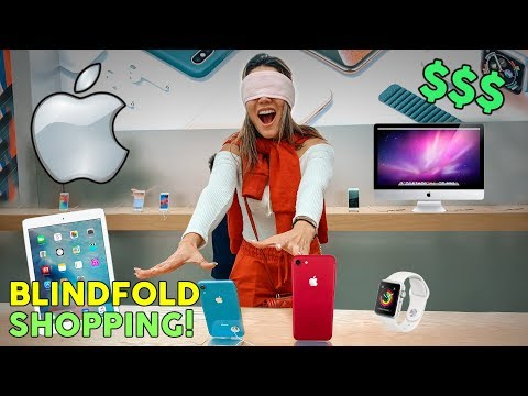Buying EVERYTHING I Touch Blindfolded! **APPLE STORE CHALLENGE** | The Royalty Family