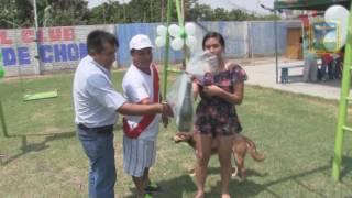 ENTREGA DE JUEGOS RECREATIVOS A CLUB DEPORTIVO JUVENTUD CRUZ DE CHONTA