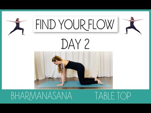 Find Your Flow Day Two: Bharmanasana