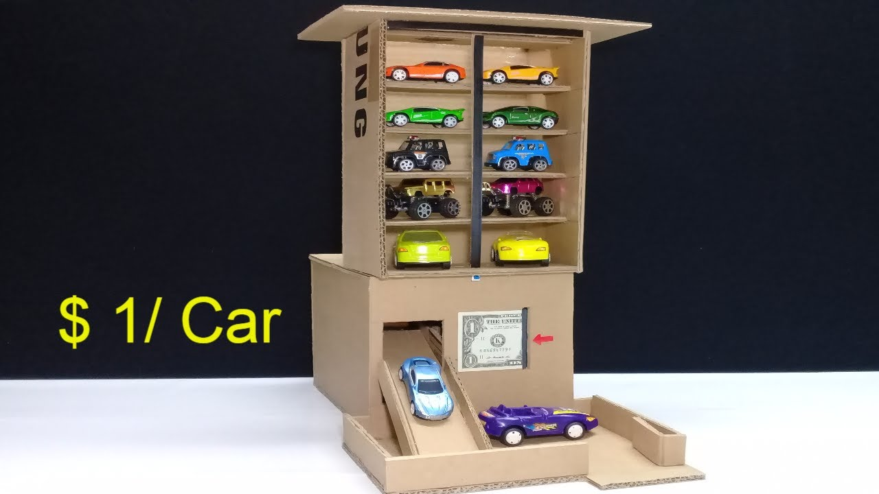 Download Amazing $ 1 per Car! Car Vending Machine - How to make Car Vending Machine for sheet $ 1