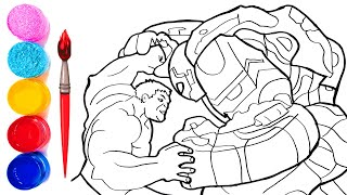 Hulk Vs Ironman Hulkbuster The Avengers Coloring Pages How To Draw Hulkbuster Iron Man Suit Youtube