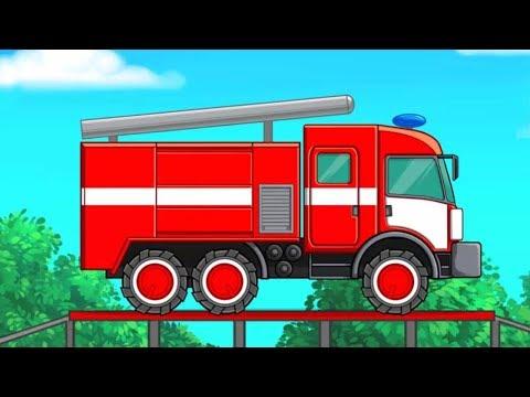 Развивающая игра для детей про машинки Спецтехника для детей  Звуки и виды транспорта