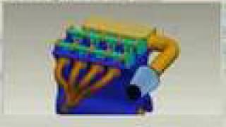 4 cylinder engine animation pro engineer