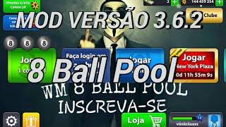 MOD VERSÃO  3.6.2  8 BALL POOL.  HACKER 8 BALL POOL 3.6.2 VERSÃO