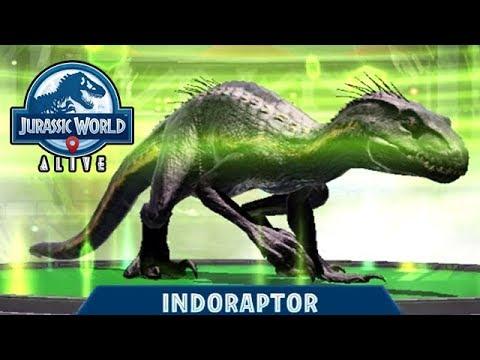INDORAPTOR UNLOCKED!!! (JURASSIC WORLD ALIVE) - YouTube