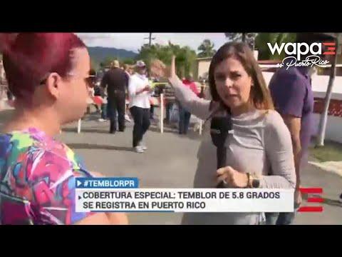 La Gitana - Temblor de tierra en Puerto Rico en medio de transmisión en vivo!