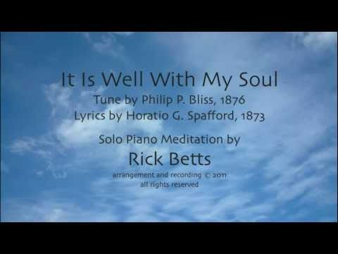 It Is Well With My Soul - Lyrics with Piano