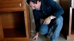 How To Level Base Cabinets using Shims