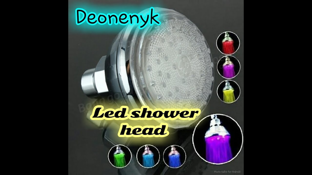 Led color changing shower head. - YouTube