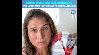 Mondiaux ISA 2021 : Sofia Mulanovich crie à l'injustice après sa non sélection directe