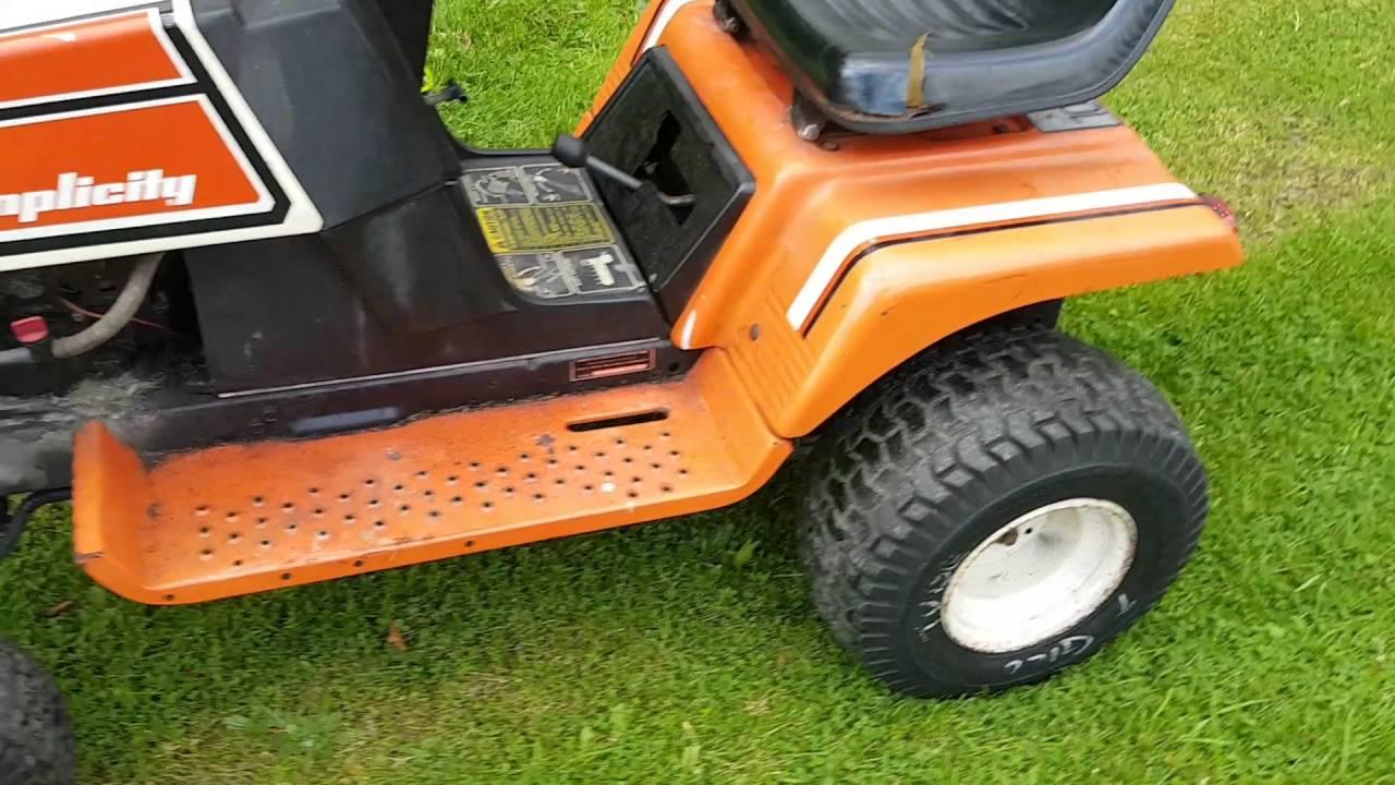 Garden Tractor Headlight : Simplicity garden tractor with work lights and