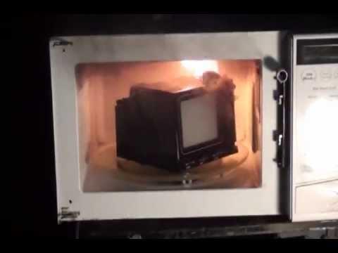 Tv Smashing Microwave Oven Vs Tv Set Youtube