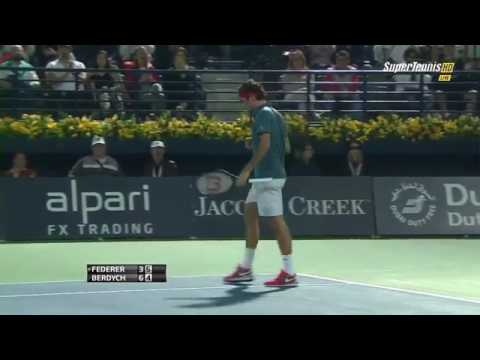 Roger Fed R Vs Tomas Berdych Final Dubai 2014 Highlights