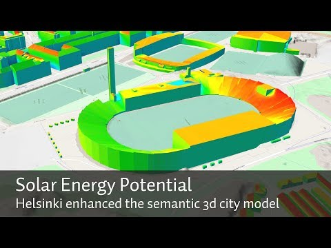 Helsinki - Solar Energy Potential - CityGML 3D City Model