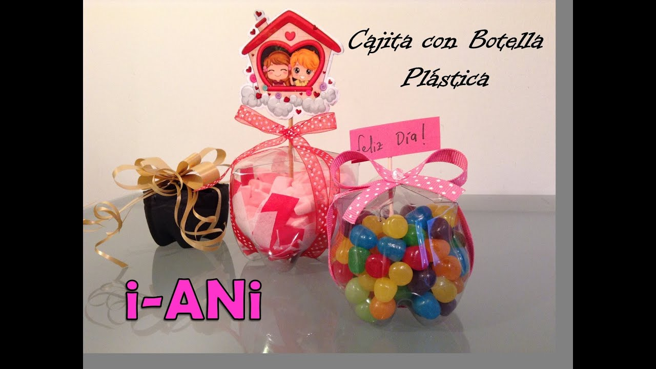 DIY - Ideas para Regalar - Cajitas con Botellas de Plástico - YouTube